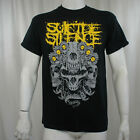 Authentic SUICIDE SILENCE Skull Kingdom Yellow Logo T-Shirt S M L XL NEW