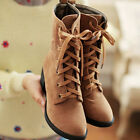 Fashion snow boots women winter shoes warm Faux Suede High Heel Lace-up Martin