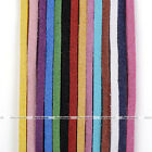 Colors 2mm Soft Leather Cord Suede Lace Velvet Thread DIY Bracelet Necklace Gift