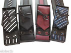 FANTASTIC CHOICE OF BOXED TIE SETS BLUE, BLACK, GREY, RED DESIGNS WITH CUFFLINKS