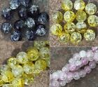 20pcs Round Ball Crack Glass Spacer Beads Findings 10mm