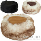 Ladies /Womens /Genuine Sheepskin Cossack /Russian Style Hat Black Brown Natural