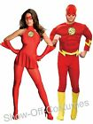 THE FLASH MENS LADIES JUSTICE LEAGUE SUPERHERO 1940'S FANCY DRESS COSTUME