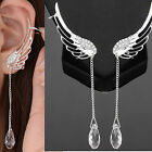 No Piercing Silver Wire Alloy Ear Cuff / Stud with Rhinestone (Angel's wing)