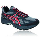 Asics Mens GEL-ENDURO 9 Grey Red Cushioned Trail Running Trainers Pumps Shoes