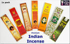 PREMIUM QUALITY SELECTION OF HAND-ROLLED INDIAN FLORAL INCENSE 1x PACK NATURAL