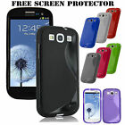 Silicone Rubber Gel S Line Case Cover For Samsung GALAXY S3 i9300/ S3 mini i8190 <br/> ✔Samsung S3 i9300/S3 mini i8190✔Free SCREEN PROTECTOR✔✔