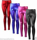 Kids Girls Shiny Disco Dance Children Leggings Christmas Tight Pants Age 5-13