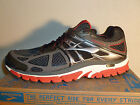 BROOKS BEAST 14' RUNNING SHOES RED CHARCOAL Men's US EXTRA WIDE Sizes