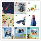 Elsa Frozen Princess Spider Man Wall Stickers Decals Removable Art Decor Home