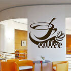 COFFEE CUP WALL ART STICKER VINYL TRANSFER DECAL CAFE RESTAURANT KITCHEN