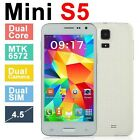 "brand new mini S5 Unlocked 4.5"" 3G/GSM Dual Sim 2Core Android Smart cellphone"
