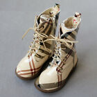 2080 Boutique Designer Inspired Classic Plaids Rubber Fleece Boots Soft & Comfy