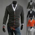 Mens Stylish Slim Fit V-neck Knitted Cardigan Pullover Jumper Sweater Tops Newly
