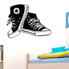 Converse Trainers Wall Art Sticker Girls Boys Bedroom Sneakers Transfer Decal