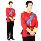 Royal  Prince Charming Mens XL Plus Size Fancy Dress British Costume Uniform
