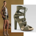 $895 GUCCI ESPADRILLE SANDALS SUEDE GLADIATOR SHOES RUNWAY JASMINE 38.5 / 8.5
