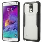 For Samsung Galaxy Note 4 Phone Bumper Case Cover Hard Clear Back Silicone Frame