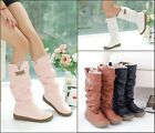Fashion Autumn Winter Womens Boots Lace Cuff Increased Internal woolen Shoes new