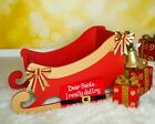 Santa's Sleigh wooden MDF Decoration Freestanding XMAS Christmas 800mm long