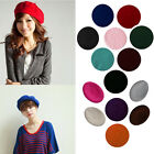 Sweet Womens Solid Wool Beret French Artist Warm Beanie Hat Winter Ski Cap Hat