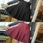 Synthetic Leather High Waist Mini Skirt Dress Women's Hot Sale Pleated Party Wst