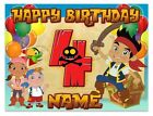 Jake Pirate Icing Birthday Edible Image Cake Topper Personalized Frosting Sheet