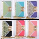 Girl Lace Bowknot Cover Leather Lanyard Case For iPhone 4 4s/5c/ 5 5s/ 6/ 6 Plus