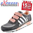 Adidas Originals Junior Kids Girls ZX 850 Velcro Casual Trainers Gry *AUTHENTIC*