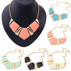 Crystal Gems Vintage Bib Statement Pendant Necklace Chain Chunky Collar Party
