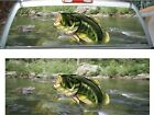 Large Mouth Bass Fish Fishing rear window view thru graphic film