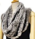 Mother's gift real Farm rabbit fur hand kniting circle scarf scarves neckerchief