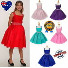 New Shiny Tulle Flower Girl Dress, Pageant Rhinestones Girls Dress, Size 2 to 14