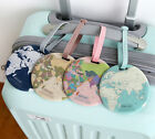 Travel Name Tag Luggage/Baggage/Carrier/ Suitcase Strap_World Map by Indigo