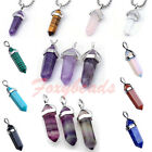 LOT Hexagon Quartz Crystal Healing Point Chakra Reiki Gemstone Pendant DIY Gift