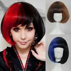 Womens Fashion Bob Style Straight Weave Short Hair Cosplay Costume Full Wigs