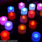 5pcs Flameless Colorful LED Candle Light Tea Light Flickering For Wedding Party