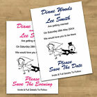 Personalised Funny Wedding Save The Date Cards Invites 10 Colour Choices - RG1