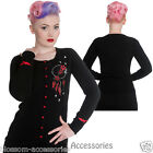 RKP50 Hell Bunny Aiyana Cardigan Black Rockabilly Pin Up Vintage 50s Retro