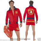 CL178 Baywatch Lifeguard Costume Short Jacket Licensed Beach Costume Outfit