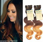 "Hot sell!Clip In Ombre Brazilian Human Hair Extension 12""-30"" Body Wave 1B/33/27"