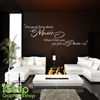 BOB MARLEY ONE GOOD THING WALL STICKER QUOTE - BEDROOM ALL ART DECAL X226