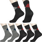 "5 Pairs Mens Diabetic Casual Dress Socks MK ""Skin contact surface is 100% cotton"