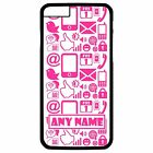 PERSONALISED PINK INTERNET PHONE/PC SYMBOLS iPHONE 6 + PLUS HARD CASE/COVER