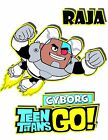 Teen Titans Go T-shirt Child size tee Cyborg personalized
