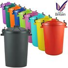 Large 80/85L Litre Plastic Bin Garden Rubbish Waste Dustbin Recycle Feed Storage
