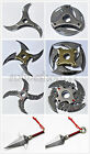 Naruto Shippuuden Metal Transformable Shuriken Asuma Sasuke Kakashi Cosplay New