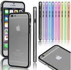 """For Apple iPhone 6 Plus 4.7"""" 5.5"""" TPU Rubber Thin Bumper Frame Cover +$5 GIFT"""
