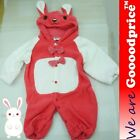 Baby Costume Rabbit Romper Unisex Jumpsuit Birthday Party Halloween Christmas