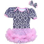 V Flourish Must Have Toddler Bodysuit with Skirt Tutu and Bow
